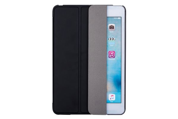 iPad Mini 4 Hard Tri-Fold Book Cover Zwart