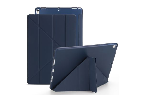 iPad Air 10.5 model 2019 Book Cover Origami donker Blauw