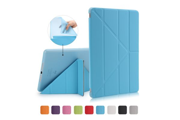 iPad 2018 9.7 inch Book Cover Origami Blauw