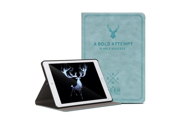 iPad 9.7 (2018) design hoes blauw DEER
