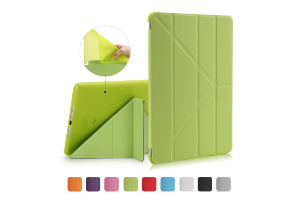 iPad 2018 9.7 inch Book Cover Origami Groen