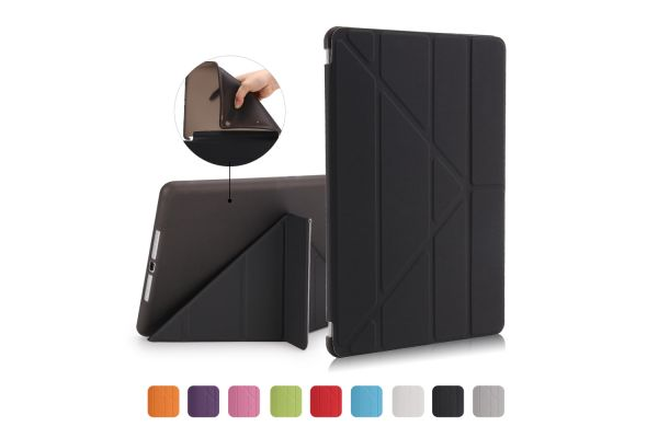 iPad 2018 9.7 inch Book Cover Origami Zwart