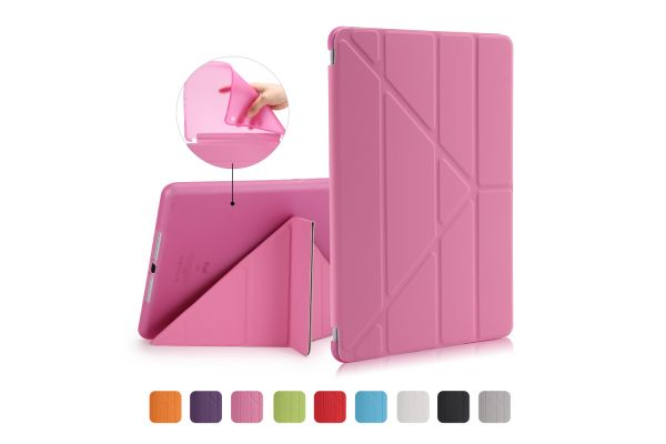 iPad 2018 9.7 inch Book Cover Origami Roze