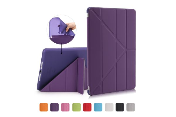 iPad 2018 9.7 inch Book Cover Origami Paars