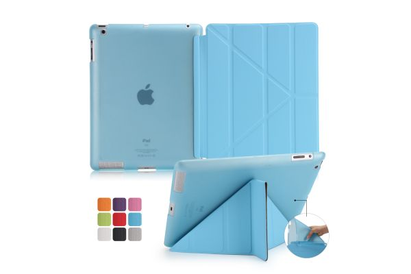 Book Cover Origami iPad 2-3-4 blauw