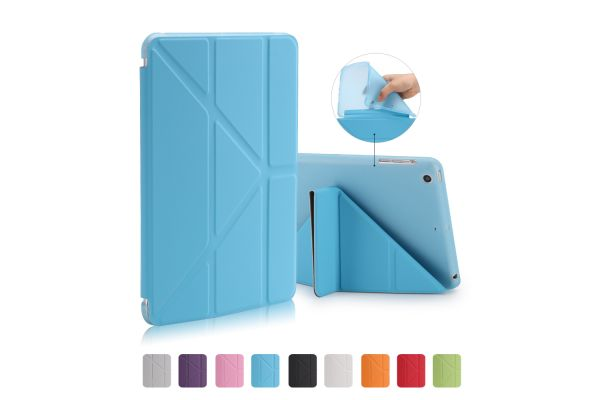 iPad Mini 1-2-3 Book Cover Origami Blauw