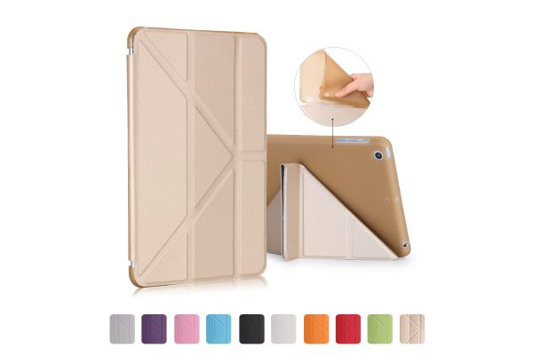 Book Cover Origami iPad Mini 1-2-3 goud