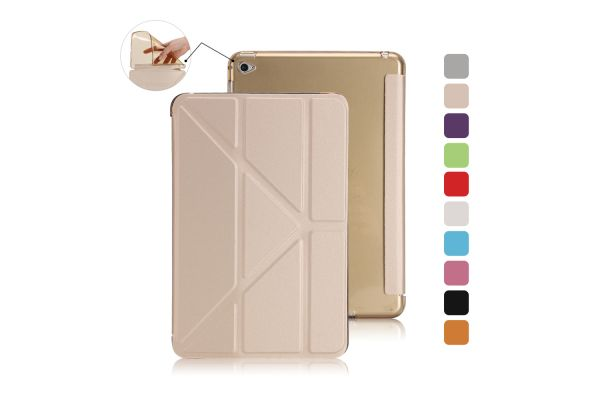 Book Cover Origami iPad Mini 4 goud