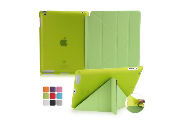Book Cover Origami iPad 2-3-4 groen