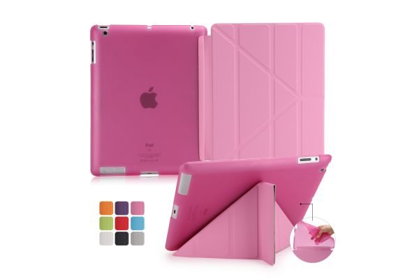 Flipstand Cover iPad 2-3-4 roze