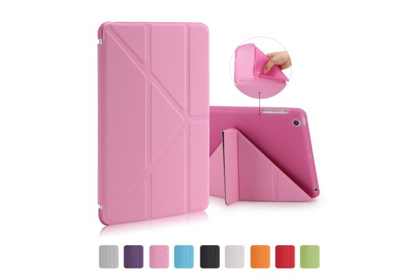 iPad Mini 1-2-3 Book Cover Origami Roze
