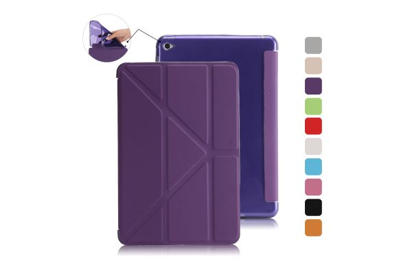 Book Cover Origami iPad Mini 4 paars