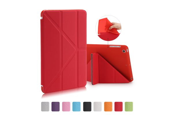 iPad Mini 1-2-3 Book Cover Origami Rood