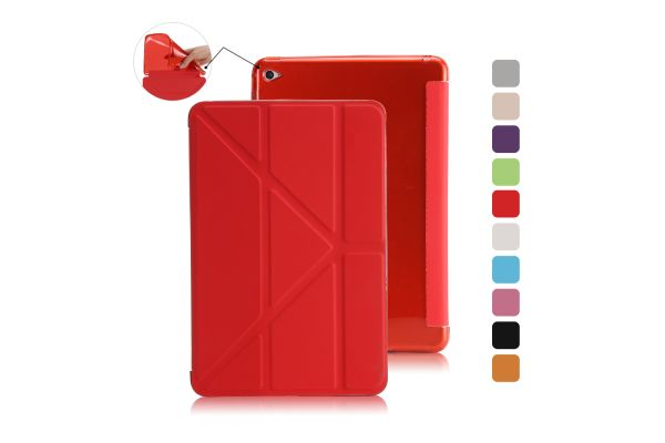 Book Cover Origami iPad Mini 4 rood