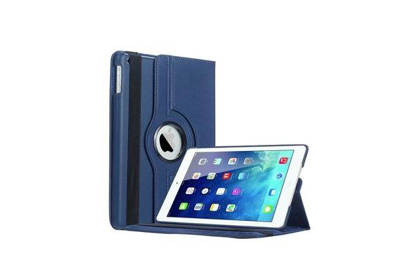 iPad 2017 9.7 PU leren draaibare hoes blauw