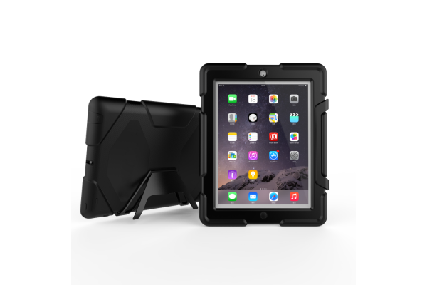 iPad 2-3-4 heavy duty survivor case zwart
