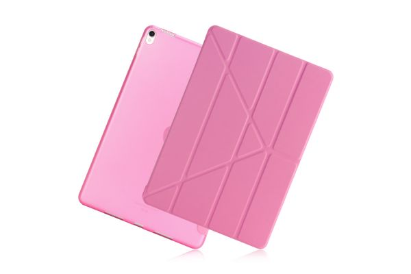 iPad Air 10.5 model 2019 Book Cover Origami roze