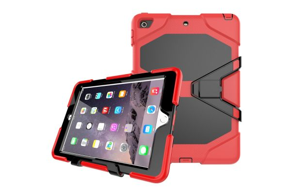 iPad 9.7 (2017) heavy duty survivor case rood