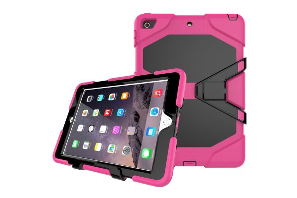 iPad 9.7 (2017) heavy duty survivor case roze