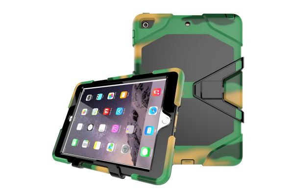 iPad 9.7 (2017) heavy duty survivor case leger kleur