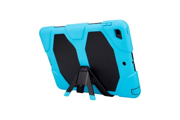 iPad 9.7 (2018) heavy duty survivor case licht blauw