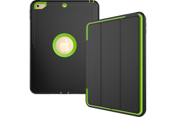 iPad 9.7 (2017) heavy duty survivor smartcase lime groen