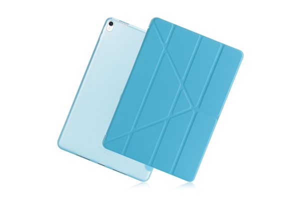 iPad Air 10.5 model 2019 Book Cover Origami licht Blauw