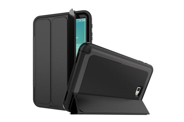 Samsung Galaxy Tab A 10.1 model 2016 Bumper Case met Smartcover Zwart