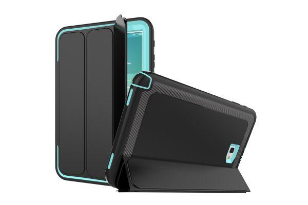 Samsung Galaxy Tab A 10.1 2016 Bumper Case met Smartcover Licht Blauw