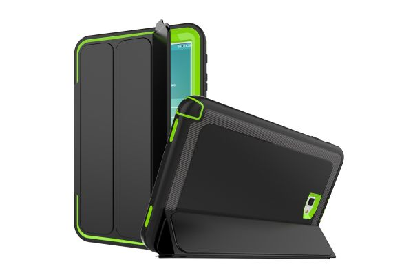 Samsung Galaxy Tab A 10.1 model 2016 Bumper Case met Smartcover lime Groen