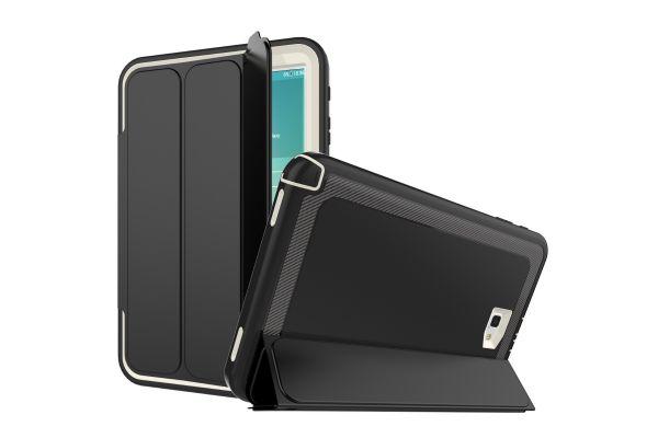 Samsung Galaxy Tab A 10.1 2016 Bumper Case met Smartcover gebroken Wit