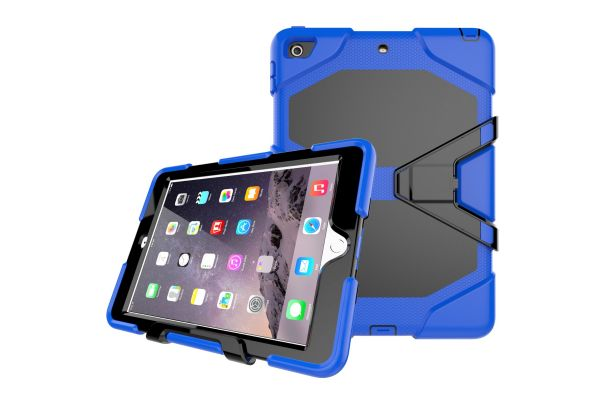 iPad 9.7 (2018) heavy duty survivor case blauw