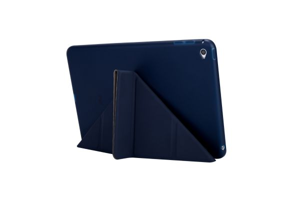iPad Mini 1-2-3 Book Cover Origami donkerBlauw