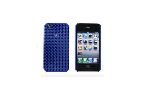 Prachtig opengewerkte Case voor de iPhone 4 - Blauw