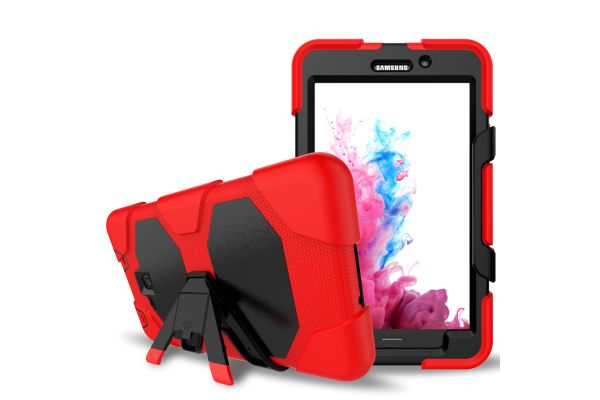Samsung Tab A 7.0 (A6) heavy duty survivor case rood T280 - T285