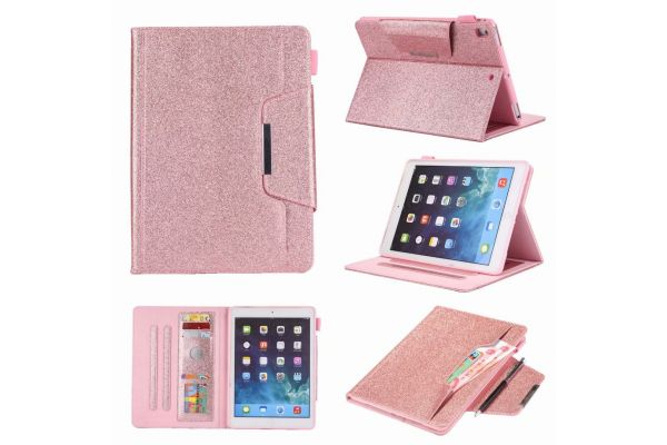 iPad Air 2 Book Cover Deluxe Roze glitter
