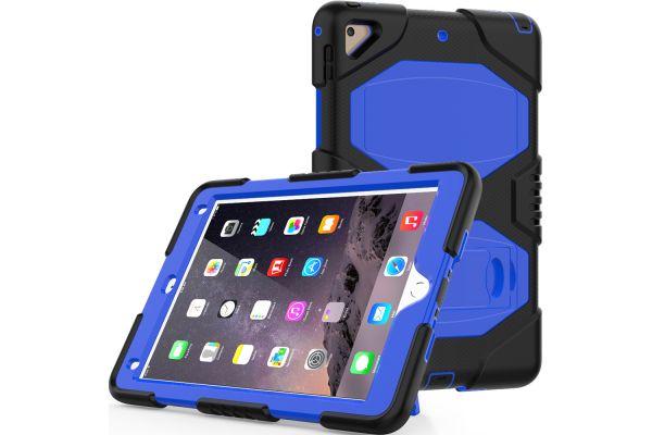 iPad 2018 9.7 Bumper Case met ingebouwde kickstand blauw