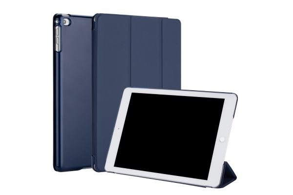iPad 2018 9.7 inch Hard Tri-Fold Book Cover donker Blauw