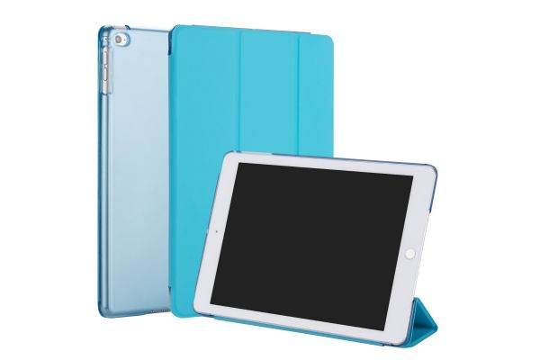 iPad 2018 9.7 inch Hard Tri-Fold Book Cover Blauw