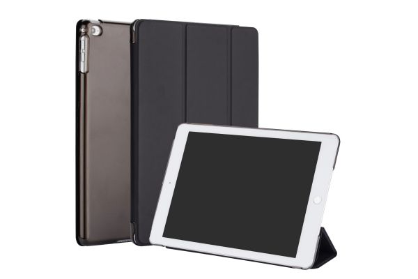 iPad 2018 9.7 inch Hard Tri-Fold Book Cover Zwart