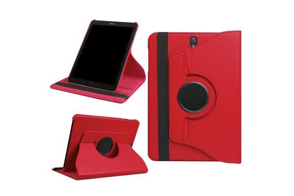 Tablet PU Leer Samsung Tab S3 (9.7) T820 T825 Draaibare Hoes Rood