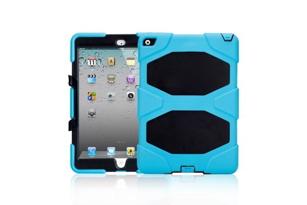 iPad Air 2 heavy duty survivor case lichtblauw