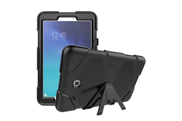 Samsung Tab E 9.6 heavy duty survivor case zwart T560 - T561