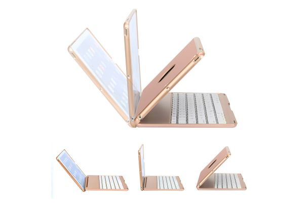 iPad Air 1 Case Bluetooth verlicht Toetsenbord Rose Goud