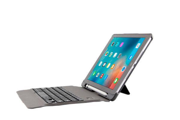 iPad Air hoes met toetsenbord licht gewicht en afneembaar rose goud