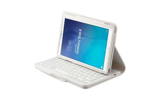Samsung Tab e 9.6 hoes met toetsenbord wit T560 T561