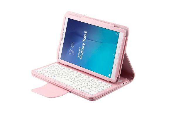 Samsung Tab e 9.6 hoes met toetsenbord roze T560 T561