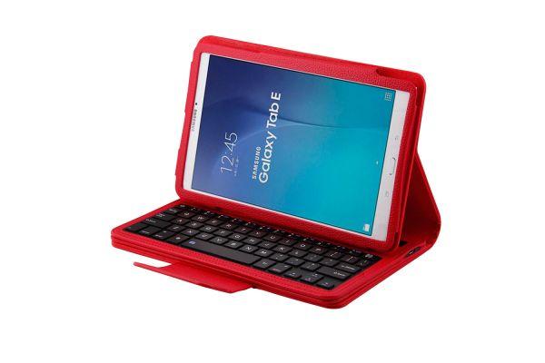Samsung Tab e 9.6 hoes met toetsenbord rood T560 T561