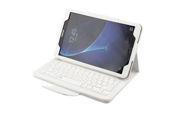 Samsung Tab A 10.1 hoes met toetsenbord wit T580 T585