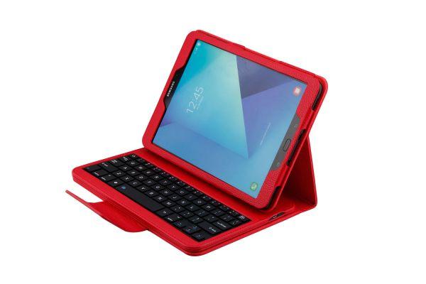 Samsung tab S3 9.7 hoes met toetsenbord Rood